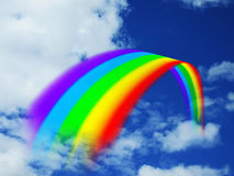 Regenboogwolken stock foto's