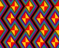 Regenboogzigzag en lijnen Stock Afbeeldingen