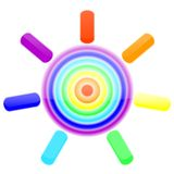Regenboogzon Stock Illustratie