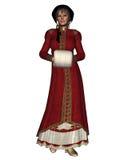Regency Christmas Woman Royalty Free Stock Photography