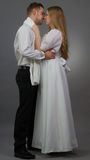 Regency. A couple posing in regency outfits Stock Photography