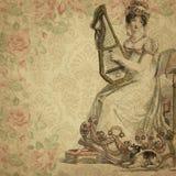Regency Era - Jane Austen Inspired - Vintage Shabby Chic Roses - Digital Paper Background - Roses - Pride & Prejudice. This digital paper background pairs a vector illustration