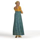Regencyjna dama Fotografia Royalty Free