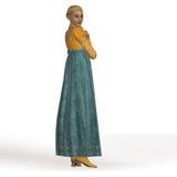 Regencyjna dama Obrazy Royalty Free