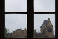 Regendalingen op venster Royalty-vrije Stock Afbeelding