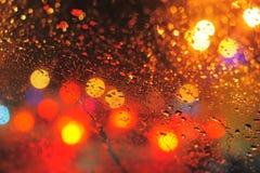 Regendruppels stock foto's
