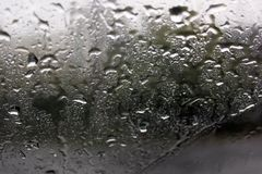 Regendruppels op de glasclose-up royalty-vrije stock foto's