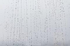 Regendruppels op het venster Royalty-vrije Stock Afbeeldingen