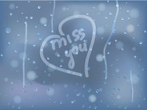 Regendruppels op het zwetende glas Royalty-vrije Stock Afbeelding