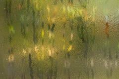 Regendruppels op venster Royalty-vrije Stock Afbeeldingen