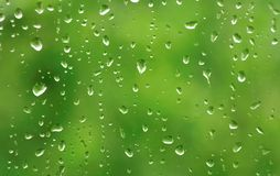 Regendruppels op venster Royalty-vrije Stock Afbeelding