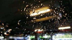 Regendruppels op venster Royalty-vrije Stock Fotografie