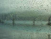Regendruppels op venster 5 Stock Afbeelding