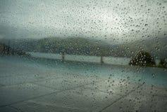 Regendruppels op venster 3 Royalty-vrije Stock Afbeeldingen