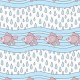 Regenen-vissen stock illustratie