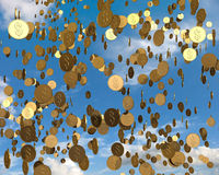 Regenend Geld Royalty-vrije Stock Foto