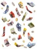 Regenend Geld Stock Foto