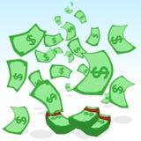 Regenend Geld Stock Fotografie