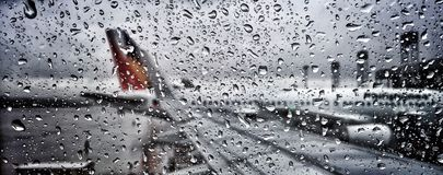 Regenend glas Stock Fotografie