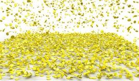 Regenend goud Stock Foto's