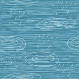 Regenende dag naadloze achtergrond Stock Foto