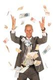 Regenende Euro Royalty-vrije Stock Foto's