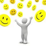 Regenende glimlachen Stock Afbeelding