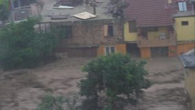 Regenflut und stor, globale Erwärmung stock video footage