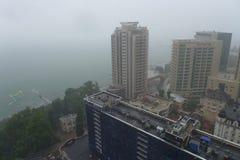 Regenguß im russischen Sochi im Juni, 25., 2015, geführt zu floodi Stockbilder