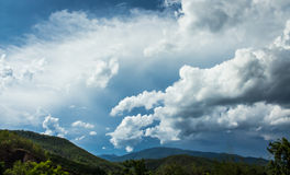 Regenhimmel Stockfoto