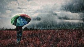 Regenregen gehen, kommen wieder ein anderer Tag weg Stockbild