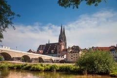 Regensburg è una città in Germania sudorientale Fotografia Stock Libera da Diritti