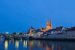 Regensburg на заходе солнца Стоковое Фото