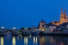 Regensburg на заходе солнца Стоковое Изображение RF