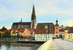 Regensburg architecture royalty free stock image