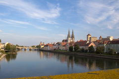 Regensburg in Bavaria Royalty Free Stock Photography