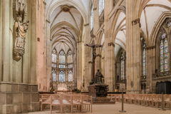 Regensburg, Bavaria, Germany,  Mai  16, 2017, Indoor view of the Cathedral Saint Peter in Regensburg Stock Photos
