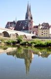 Regensburg, Baviera, Germania, Europa Fotografia Stock Libera da Diritti
