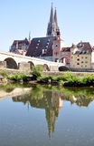 Regensburg, Beieren, Duitsland, Europa Royalty-vrije Stock Foto