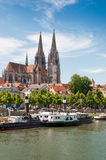 Regensburg Cathedral. Regensburg with cathedral at the Danube in Germany Royalty Free Stock Image