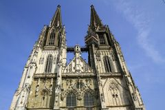 The Regensburg Cathedral St. Peter in Regensburg Stock Photos