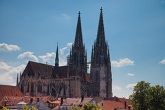 Regensburg is a city in south-east Germany Royalty Free Stock Image