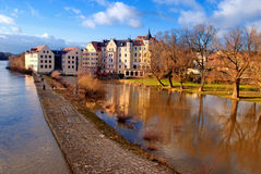 Regensburg and Danube river, Bavaria, Germany Stock Photo