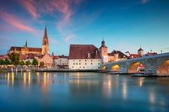 Regensburg, Deutschland stockfotos