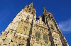 Regensburg domkyrka Royaltyfri Foto