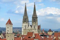 Regensburg domkyrka, Tyskland Arkivfoto