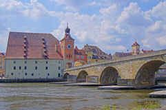 Regensburg en Alemania imagen de archivo libre de regalías