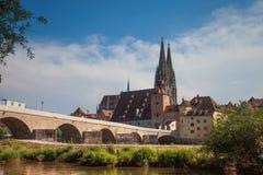Regensburg es una ciudad en Alemania suroriental Imágenes de archivo libres de regalías