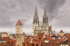 Regensburg medieval town Germany Stock Photo
