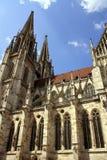 Regensburg met Kathedraal royalty-vrije stock foto